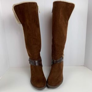 Tommy Hilfiger Faux Suede & Fur Lined Boots